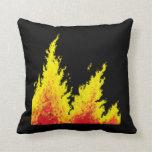 llamas calientes almohada
