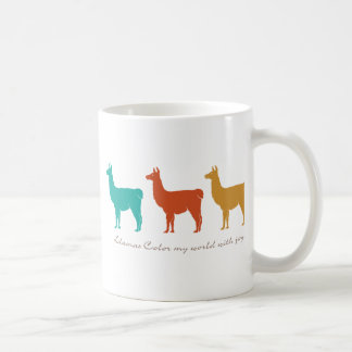 Llamas Color My World with Joy Coffee Mug