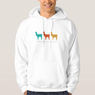 Llamas Color My World with Joy Hoodie
