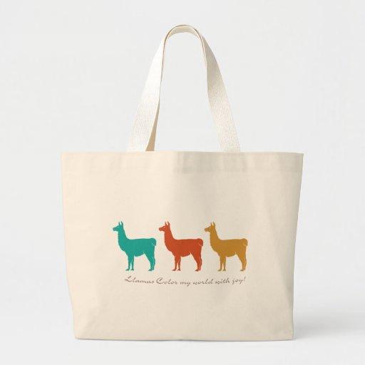 Llamas Color My World with Joy Tote Bag