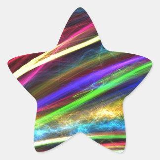 Llamas coloridas pegatina en forma de estrella