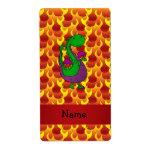 Llamas conocidas personalizadas del dragón verde etiqueta de envío