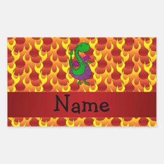Llamas conocidas personalizadas del dragón verde etiqueta