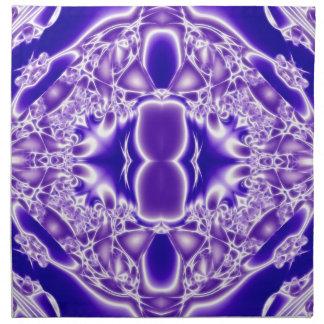 Llamas cristalinas de la pureza servilleta de papel