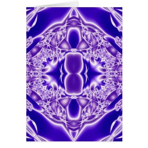 Llamas cristalinas de la pureza tarjetón
