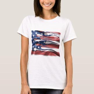 Llamas de la bandera americana playera