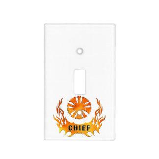 Llamas de los jefes cubiertas para interruptor