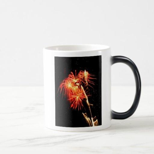 Llamas de ocsilación taza de café