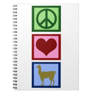 Llamas del amor de la paz libreta espiral