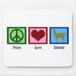 Llamas del amor de la paz tapetes de raton