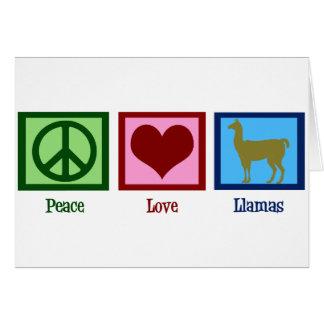 Llamas del amor de la paz tarjeta de felicitación