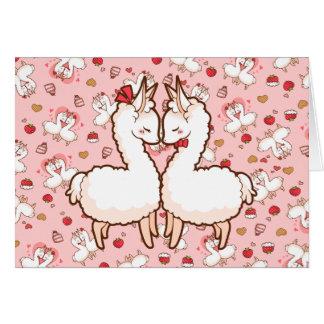 Llamas del amor de la tarjeta del día de San