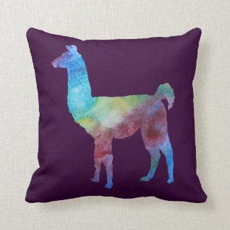 Llamas del arco iris cojin