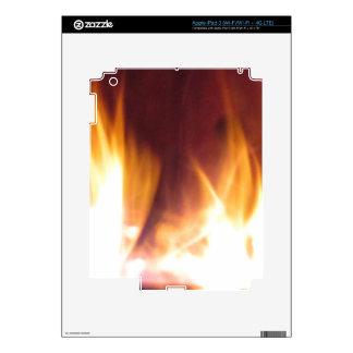 llamas del baile del firepit iPad 3 pegatinas skins