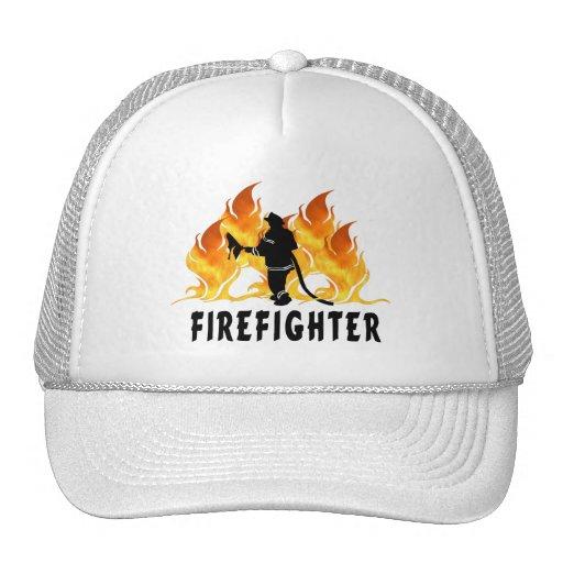 Llamas del bombero gorra