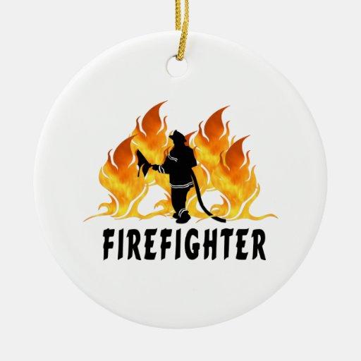 Llamas del bombero ornamento para reyes magos