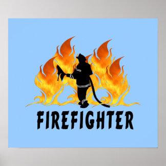 Llamas del bombero impresiones