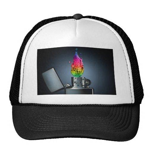llamas del color gorras