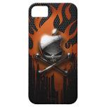 Llamas del cráneo y del goteo iPhone 5 Case-Mate protector