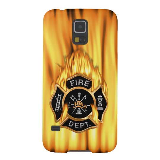 Llamas del cuerpo de bomberos carcasa galaxy s5