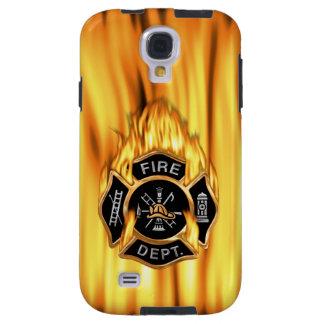 Llamas del cuerpo de bomberos funda para galaxy s4