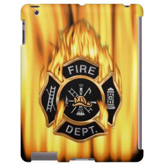 Llamas del cuerpo de bomberos funda para iPad