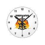 Llamas del cuerpo de bomberos relojes