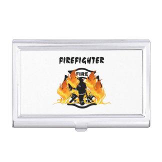 Llamas del departamento del fuego caja de tarjetas de negocios