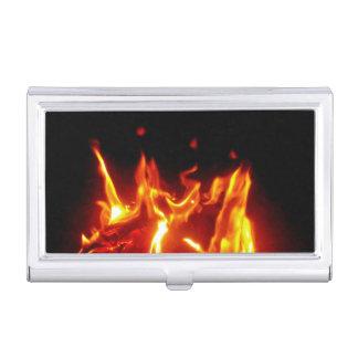 Llamas del fuego cajas de tarjetas de presentación