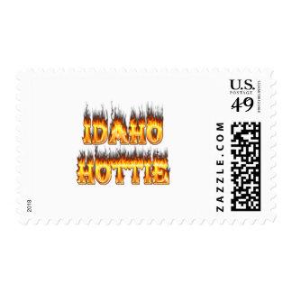 Llamas del fuego de Idaho Hottie Sello