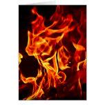 Llamas del fuego tarjetas