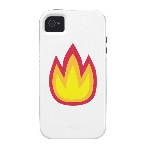 Llamas del fuego vibe iPhone 4 fundas