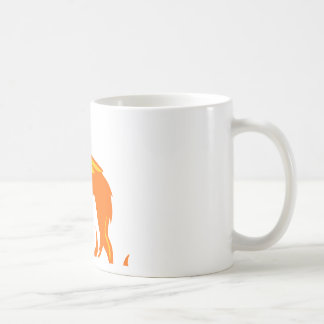 Llamas del lobo taza