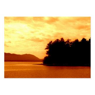 Llamas del otoño tarjetas de visita grandes