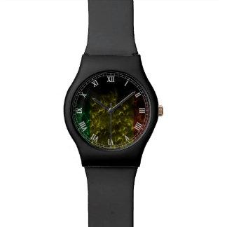 Llamas del rasta de la música del reggae de Cori R Relojes De Mano
