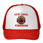 Llamas del símbolo del bombero de Nueva York Gorras De Camionero