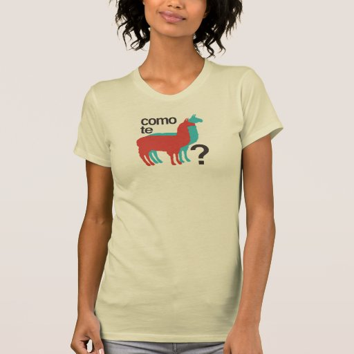 ¿Llamas del te de Como? Camiseta