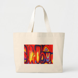 Llamas divididas (expresionismo abstracto) bolsa de mano