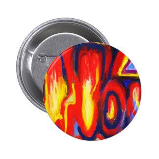 Llamas divididas (expresionismo abstracto) pin