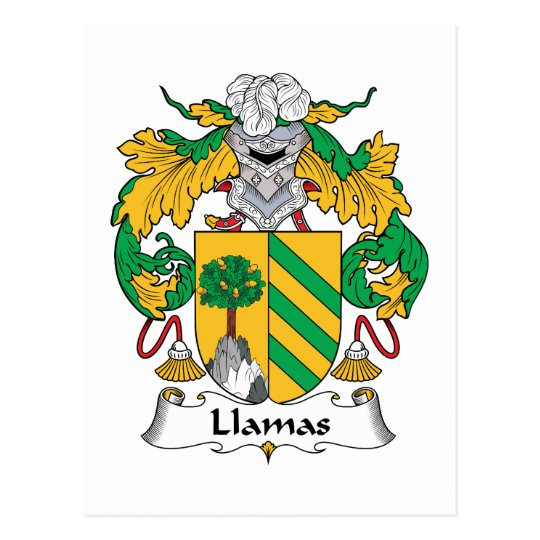 Llamas Family Crest Postcard