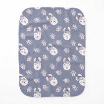 Llamas & Flowers Pattern Baby Burp Cloth