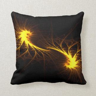 Llamas gemelas - almohada abstracta del arte del c