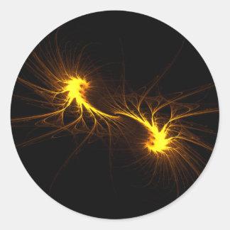 Llamas gemelas - pegatina del fractal
