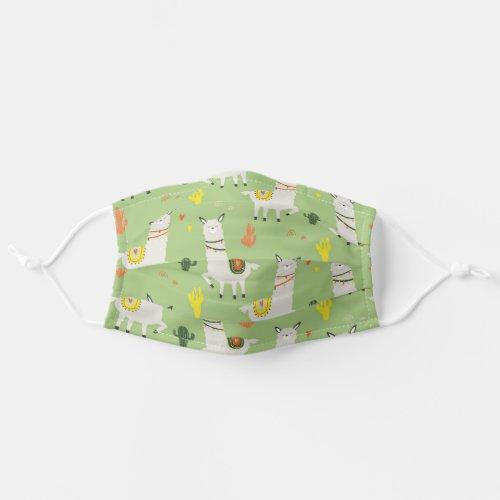 Llamas Green Cute Funny Pattern Cloth Face Mask