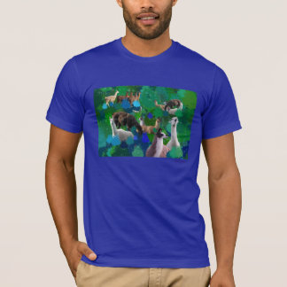 Llamas in a Llama-Forest with first snow T-Shirt