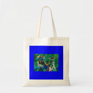 Llamas in a Llama-Forest with first snow Tote Bag