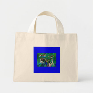 Llamas in a Llama-Forest with first snow Tote Bags