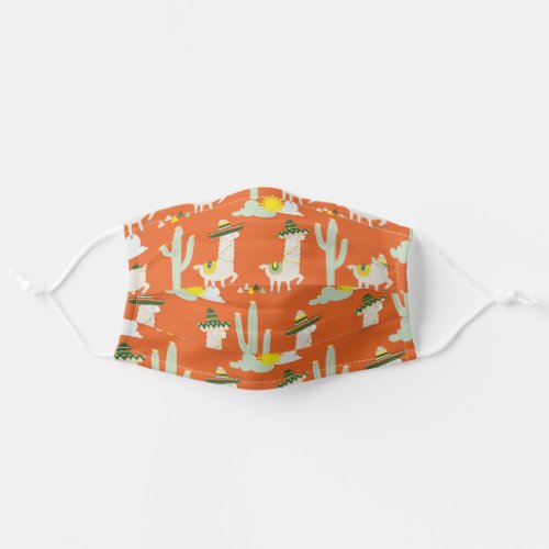 Llamas in Sombreros Funny Pattern Cloth Face Mask