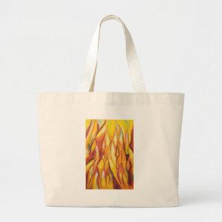 Llamas inclinadas (expresionismo abstracto) bolsa de mano