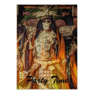 """Llamas japonesas del esqueleto del guerrero del invitación 5"""" x 7"""""""